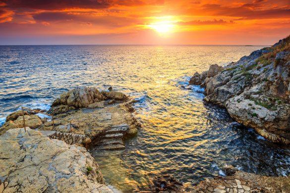 Sonnenuntergang Rovinj Kroatien